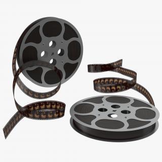 3D Video Film Reel 3D Models Set 3