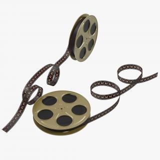 Video Film Reels 3D Models Set 5 3D