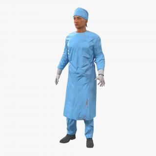 3D model Male Surgeon Mediterranean Rigged 4