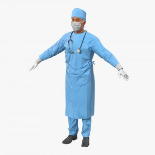 3D Male Surgeon Mediterranean