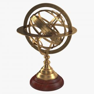 3D model Antique Globe 4