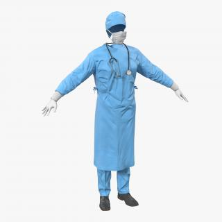 3D Doctor Clothing Collection 6 model