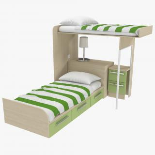 Two Story Children's Bed 3D model