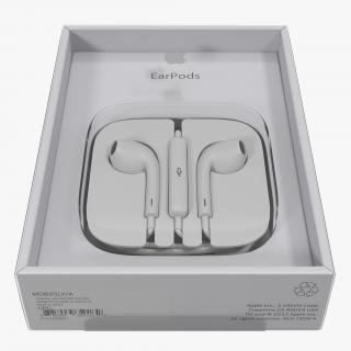 3D model Apple EarPods with Remote and Mic Folded