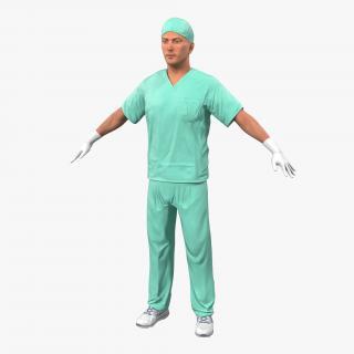 Male Surgeon Caucasian 2 3D model