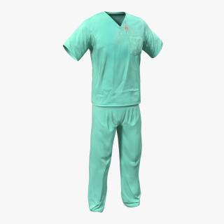 Surgeon Dress 19 with Blood 3D