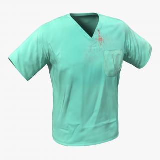 Surgeon Dress 20 with Blood 3D