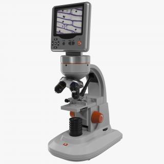 3D LCD Digital Microscope White model