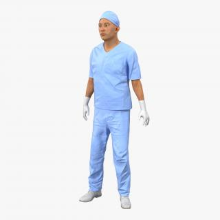 Male Surgeon Asian Rigged 2 3D