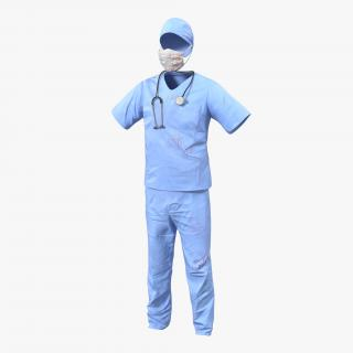 Surgeon Dress 14 with Blood 3D