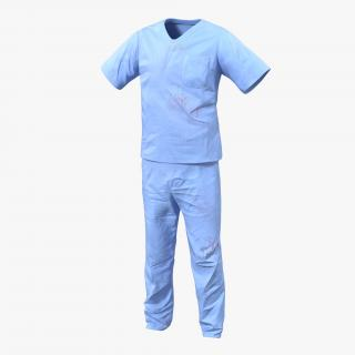 Surgeon Dress 15 with Blood 3D