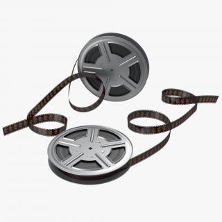 3D model Video Film Reels 3D Models Set