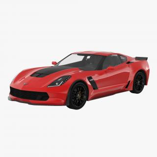 3D model Chevrolet Corvette 2015 Rigged
