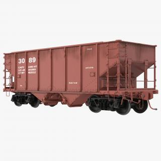 3D Hopper Car Generic model
