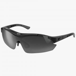 Sport Glasses Black 3D model
