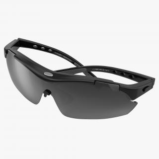 3D Sport Glasses 2 Black