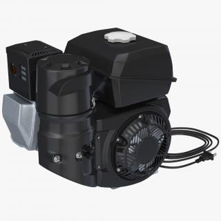 3D Horizontal Single Cylinder Engine model