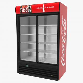 Coca Cola Double Door Display Refrigerator 3D