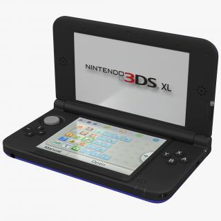 3D model Nintendo 3DS XL Blue