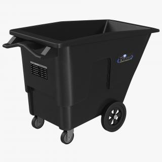 3D model Large Rolling Garbage Can