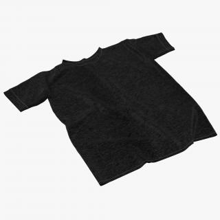 3D Flat T-Shirt Black model