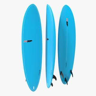 3D Surfboard Funboard model