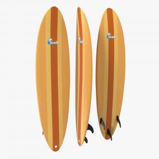 3D model Surfboard Funboard 2