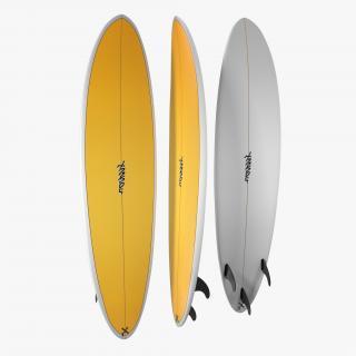 3D model Surfboard Funboard 3