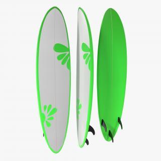 3D model Surfboard Funboard 4