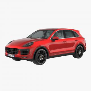 Porsche Cayenne Turbo S 2015 Simple Interior 3D model
