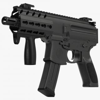 3D Machine Pistol Sig Sauer MPX model