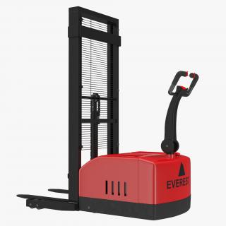 Electric Walkie Stacker Red 3D