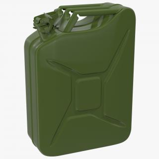 3D Jerry Can Metal Gas Can model