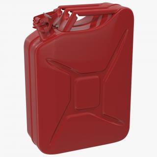 3D Gas Can Red