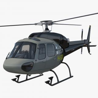 3D Light Private Helicopter Eurocopter AS355 E model