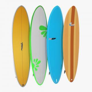 Surfboard Funboard Set 3D
