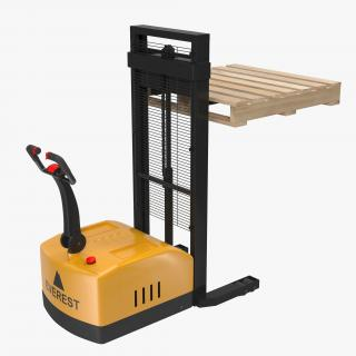 3D Electric Walkie Stacker and Wooden Pallet