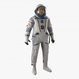 3D model Russian Astronaut Wearing Space Suit Sokol KV2 Rigged 2