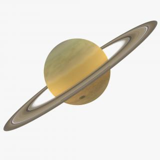 3D Planet Saturn model