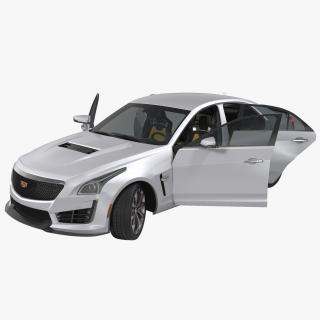 3D Cadillac CTS V 2016 Rigged