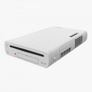 3D Nintendo Wii U Console White model