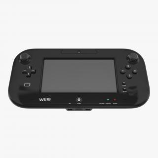 3D Nintendo Wii U Controller Black