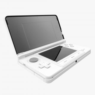 3D Nintendo 3DS White model
