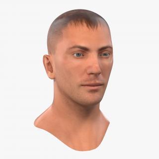 Caucasian Male Head 3D model
