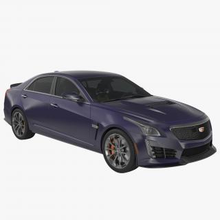 3D model Cadillac CTS V 2016 Simple Interior