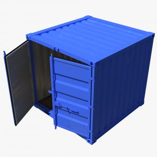 8 ft Storage Container Blue 3D