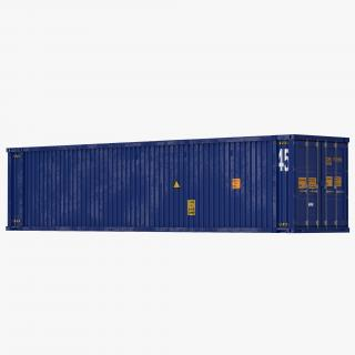 45 ft High Cube Container Blue 2 3D