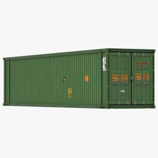 3D 45 ft High Cube Container Green