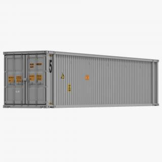 3D 45 ft High Cube Container White