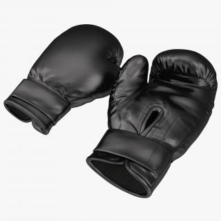 Boxing Gloves Black 3D model